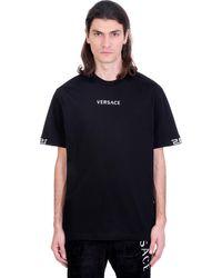 Versace T-shirt In Black Cotton