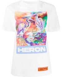 Heron Preston T-shirt con stampa - Bianco