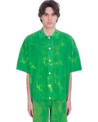 Gcds Shirt In Green Cotton