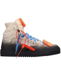 Off-White c/o Virgil Abloh Sneakers Off Court in Pelle Beige - Neutro