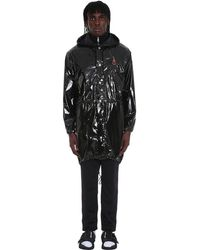 8 MONCLER PALM ANGELS Sid Coat In Black Tech/synthetic