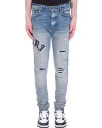 Amiri Jeans in denim Blu