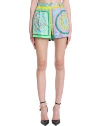 Versace Shorts in Poliestere Verde