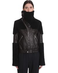 Rick Owens Keith Jkt Leather Jacket In Black Leather