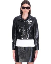 Courreges Casual Jacket In Black Cotton