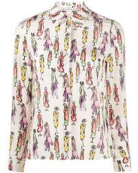 Alice + Olivia Camicia d seta con stampa - Multicolore