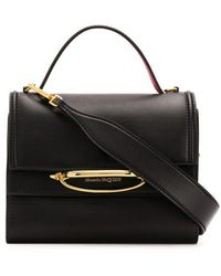 Alexander McQueen Two-tone The Story Tote - Black