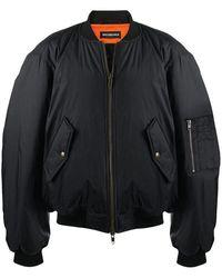 Balenciaga Nylon Bomber Jacket - Black