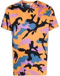 Valentino T-shirt di cotone con stampa camouflage - Multicolore