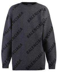 Balenciaga Wool Blend Jumper - Grey