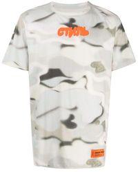 Heron Preston T-shirt Cyrillic con logo - Grigio