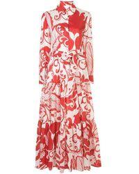 LaDoubleJ Bellini Marea Cotton Dress - Red