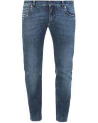 Dolce & Gabbana Twisted Leg Classic Jeans - Blue