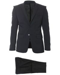 Givenchy Black Stretch Techno Wool Suit