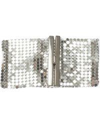 Paco Rabanne - Silver Metal Mesh Bracelet - Lyst