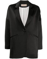 Blanca Vita Satin Jacket - Black