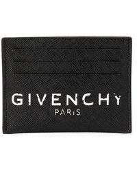 Givenchy Paris Coated Canvas Card Holder - Black