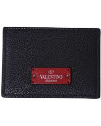 Valentino   Leather Cards Holder   Lyst