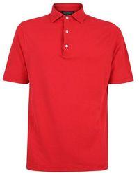 Dell'Oglio Polo di cotone piqué - Rosso