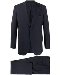 Kiton Mohair And Virgin Wool Suit - Black
