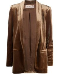 Blanca Vita Velvet Jacket - Natural