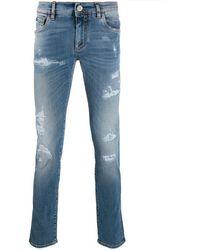Dolce & Gabbana Jeans skinny di denim - Blu