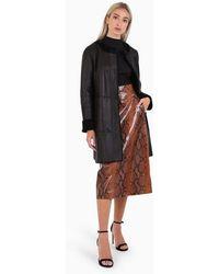 DROMe Astrakhan Fur Coat - Black