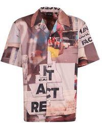 Daily Paper Camicia di cotone con stampa - Rosa
