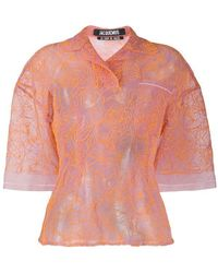 Jacquemus Embroidered Tulle Blouse - Multicolor