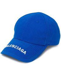 Balenciaga Embroidered Baseball Hat - Blue