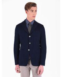John Sheep Cotton Blend Jacket - Blue