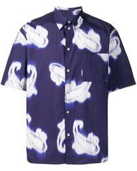 MSGM Blurred Paisley Print Shirt - Blue