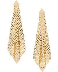 Paco Rabanne Rhinestone-embellished Drop Earrings - Metallic