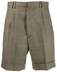 Maison Margiela Checked Shorts - Green