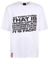 Daily Paper T-shirt di cotone con stampa - Bianco