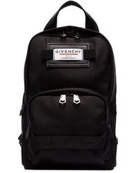 Givenchy Mini Downtown Logo Patch Backpack - Black