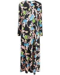 LaDoubleJ Floral Print Viscose Dress - Blue