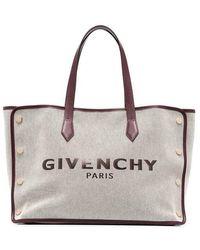 Givenchy BORSA BOND TOTE MEDIUM IN TELA CON LOGO - Multicolore