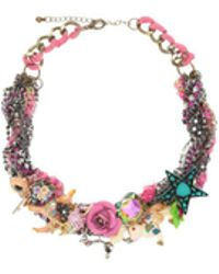 Night Market | Colourful Charms Necklace | Lyst