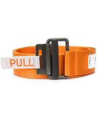 Heron Preston Cintura di nylon con logo - Arancione