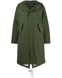 A.P.C. Gertrude Cotton Blend Parka Coat - Green