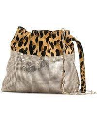 Paco Rabanne Leopard Print Metal Mesh Bag - Multicolour