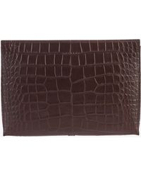 Orciani - Embossed Leather Document Holder Pouch - Lyst
