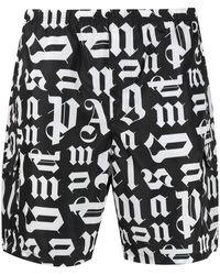 Palm Angels - Shorts mare di nylon - Lyst