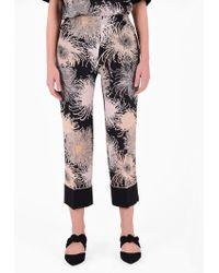 N°21 Silk Pyjamas Trousers - Multicolour