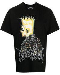 DOMREBEL T-shirt di cotone con stampa - Nero