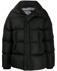 DSquared² Feather Down Jacket - Black