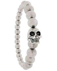 Alexander McQueen - Skull Metal Bracelet - Lyst
