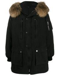 Amiri Cotton Parka Coat - Black