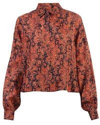 Trussardi Printed Silk Shirt - Orange